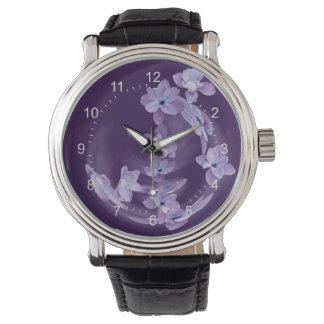 Relógio De Pulso Lilac no círculo