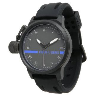Relógio De Pulso Listra conhecida feita sob encomenda fina de Blue