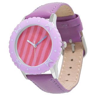 Relógio De Pulso Listra do rosa quente