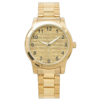 Relógio De Pulso Listras do encanto do ouro