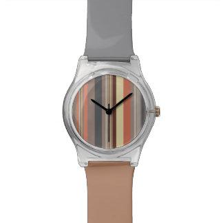 Relógio De Pulso Listras - tons retros