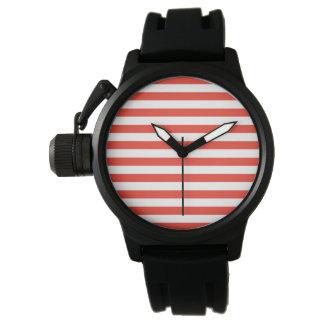 Relógio De Pulso Listras vermelhas horizontais