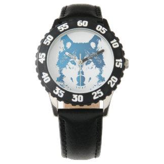 Relógio De Pulso Lobo do azul de gelo da ilustração