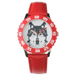 Relógio De Pulso Lobo preto da ilustração