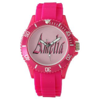 Relógio De Pulso Logotipo conhecido das meninas cor-de-rosa de