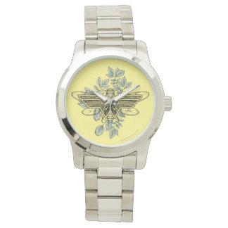 Relógio De Pulso Logotipo da abelha de rainha da mulher maravilha