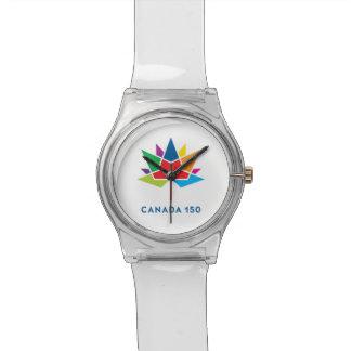 Relógio De Pulso Logotipo do oficial de Canadá 150 - multicolorido