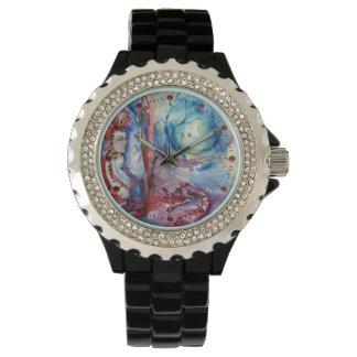 Relógio De Pulso Mágica de MORGANA e fantasia azul cor-de-rosa do