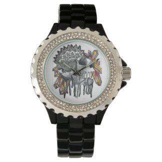 Relógio De Pulso Mandala de cristal do crânio