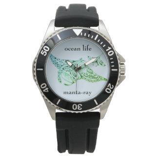 Relógio De Pulso Manta-raios da VIDA do OCEANO