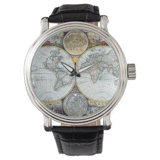 Relógio De Pulso Mapa do mundo antigo, atlas Maritimus pelo