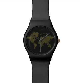 Relógio De Pulso Mapa do mundo de Digitas
