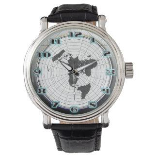 Relógio De Pulso Mapa estacionário de Gleasons da terra lisa do