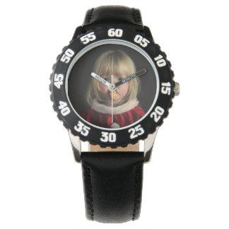 Relógio De Pulso Menina do Natal - criança do Natal - menina bonito