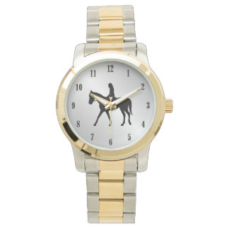 Relógio De Pulso Menina em números do preto da prata do cavalo