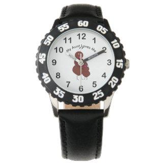 Relógio De Pulso Minha tia Amor Me Formiga Personalizamento