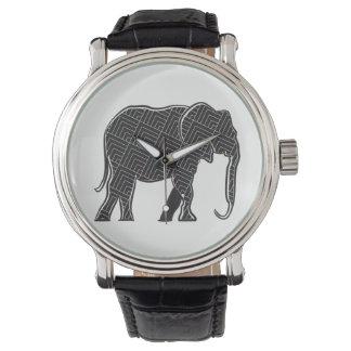 Relógio De Pulso Mínimo elegante sofisticado do teste padrão do