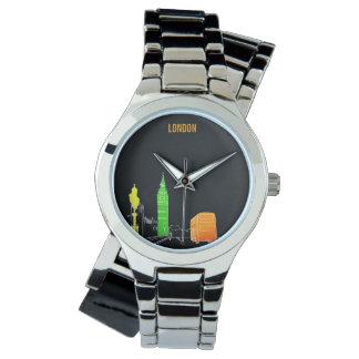 Relógio De Pulso Moderno legal vibrante das cores de néon do pop