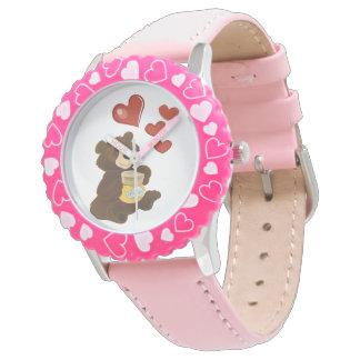 Relógio De Pulso Moldura com rosa