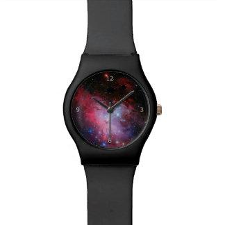 Relógio De Pulso Monograma, imagem do espaço da nebulosa de Eagle