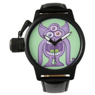 Relógio De Pulso monstro estrangeiro Três-eyed que ri perniciosa