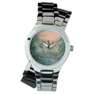 Relógio De Pulso Montanha com lago
