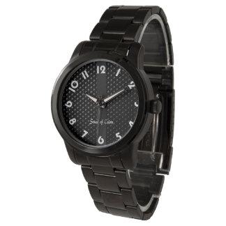 """Relógio De Pulso Mostra bracelete """"Preta Elegância """""""