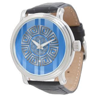 Relógio De Pulso Motivo grego do círculo