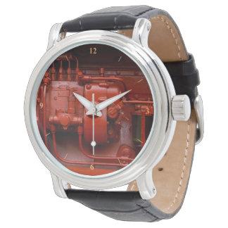 Relógio De Pulso Motor vermelho do trator