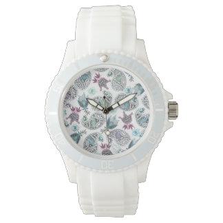 Relógio De Pulso Motriz floral do pepino