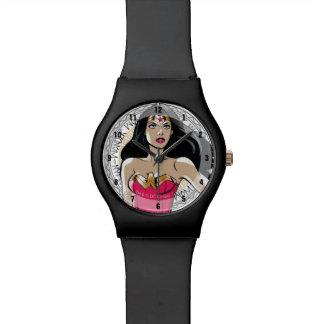 Relógio De Pulso Mulher maravilha com o emblema tribal grego