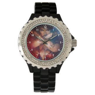 Relógio De Pulso Mulher maravilha que obstrui com braceletes