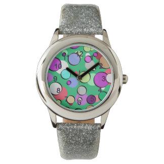Relógio de pulso multicolor