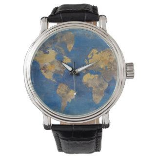 Relógio De Pulso Mundo dourado