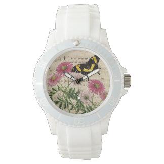 Relógio De Pulso Música da borboleta da margarida