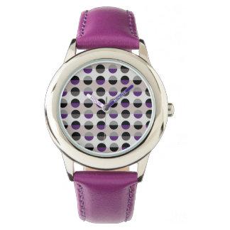 Relógio De Pulso Na moda moderno chique retro da senhora bolinhas