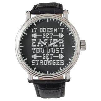 Relógio De Pulso Não obtem mais fácil, você apenas obtem mais forte