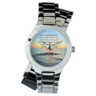 Relógio De Pulso NASCER DO SOL FOTO do SALMO do OCEANO na 2á