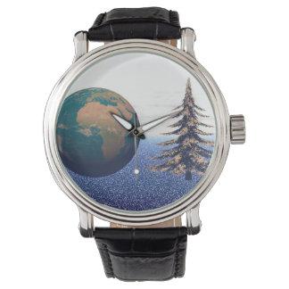 Relógio De Pulso Natal e neve do mundo