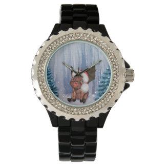 Relógio De Pulso Natal, leitão pequeno bonito