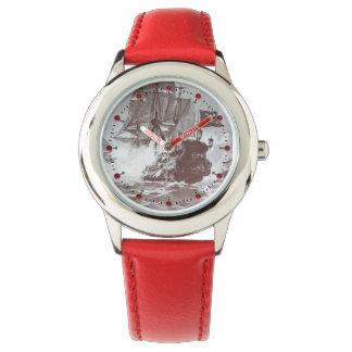 Relógio De Pulso Náutico branco de Brown da antiguidade da BATALHA