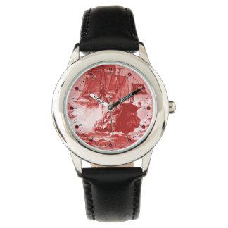 Relógio De Pulso Náutico branco vermelho da antiguidade da BATALHA
