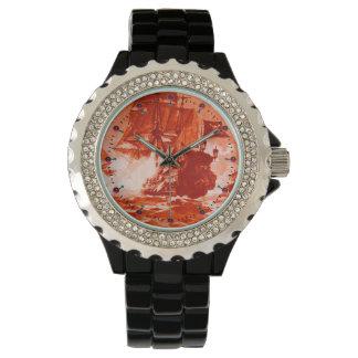 Relógio De Pulso Náutico vermelho da BATALHA do NAVIO de PIRATA