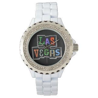 Relógio De Pulso Néon retro de Las Vegas