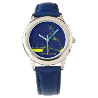 Relógio De Pulso Néon vibrante do pop art das cores de Copenhaga