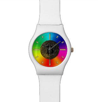 Relógio De Pulso O arco-íris colore o bitcoin