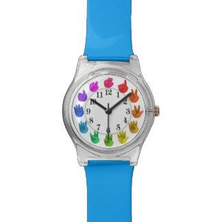 Relógio De Pulso O arco-íris entrega números do asl