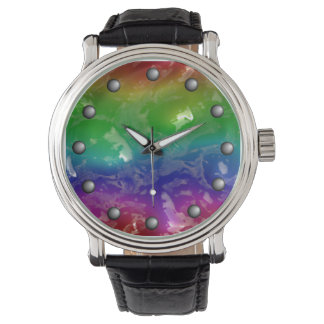 Relógio De Pulso O arco-íris psicadélico Jellied Ooze