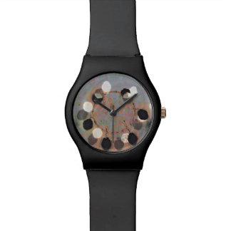 Relógio De Pulso O branco preto pontilha a arte digital da unidade