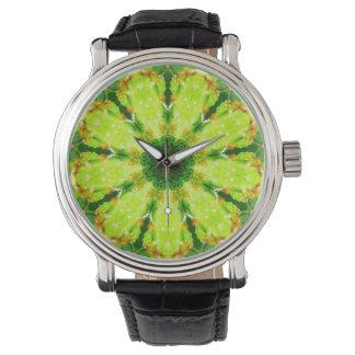 Relógio De Pulso O cacto do Succulent sae do Fractal